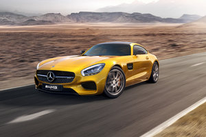 Yellow Mercedes Benz Amg GT 4k