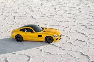 Yellow Mercedes Benz Amg GT