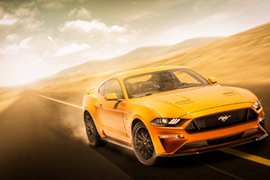 Yellow Mustang 4k Wallpaper