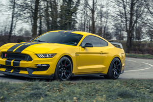 Yellow Mustang 5k Wallpaper