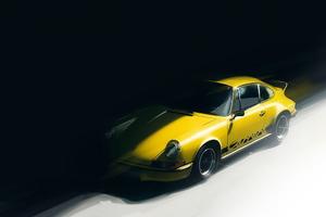 Yellow Porsche Artwork Wallpaper