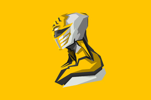 Yellow Power Rangers 4k Art