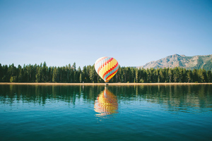 Yellow Red Hot Air Balloon 4k