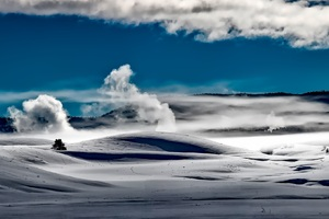 Yellowstone National Park Landscape View Wallpaper
