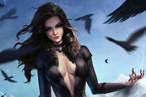 Yennefer Witcher Artwork Wallpaper