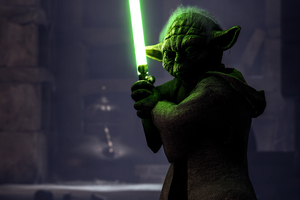 Yoda Star Wars Battelfront 2 8k Wallpaper