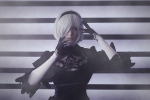 YoRHa NO 2 Type B Nier Automata Cosplay Wallpaper