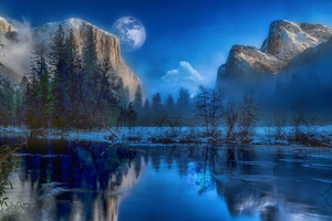 Yosemite Park Fantasy Wallpaper