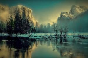 Yosemite Park Landscape Sunrise