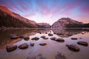 Yosemite Rocks Reflections Wallpaper