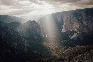 Yosemite Valley Green Grass Field 8k Wallpaper