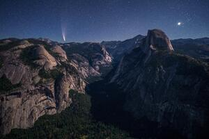Yosemite Valley Under Moonlight 5k Wallpaper