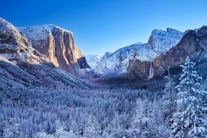 Yosemite Winter Morning 4k Wallpaper