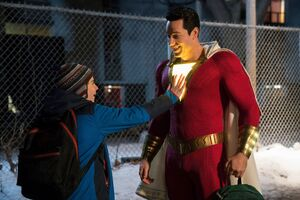 Zachary Levi And Asher Angel In Shazam Movie 4k