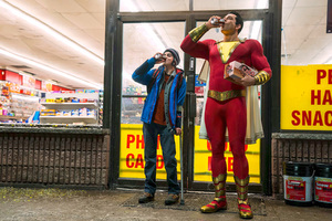 Zachary Levi And Asher Angel In Shazam Movie