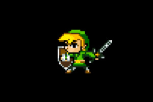Zelda 8 Bit Minimalism Wallpaper