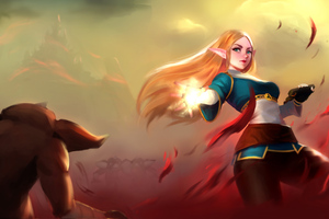 Zelda Throwing Flame 4k