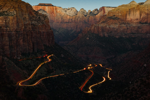 Zion National Park Canyon Overlook At Dawn 4k Wallpaper
