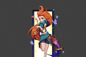 Zoe League Of Legends Minimal Art 4k