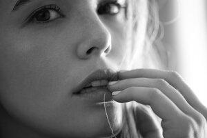 Zoey Deutch Monochrome