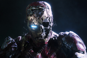 Zombie Iron Man In Spiderman Far From Home Wallpaper
