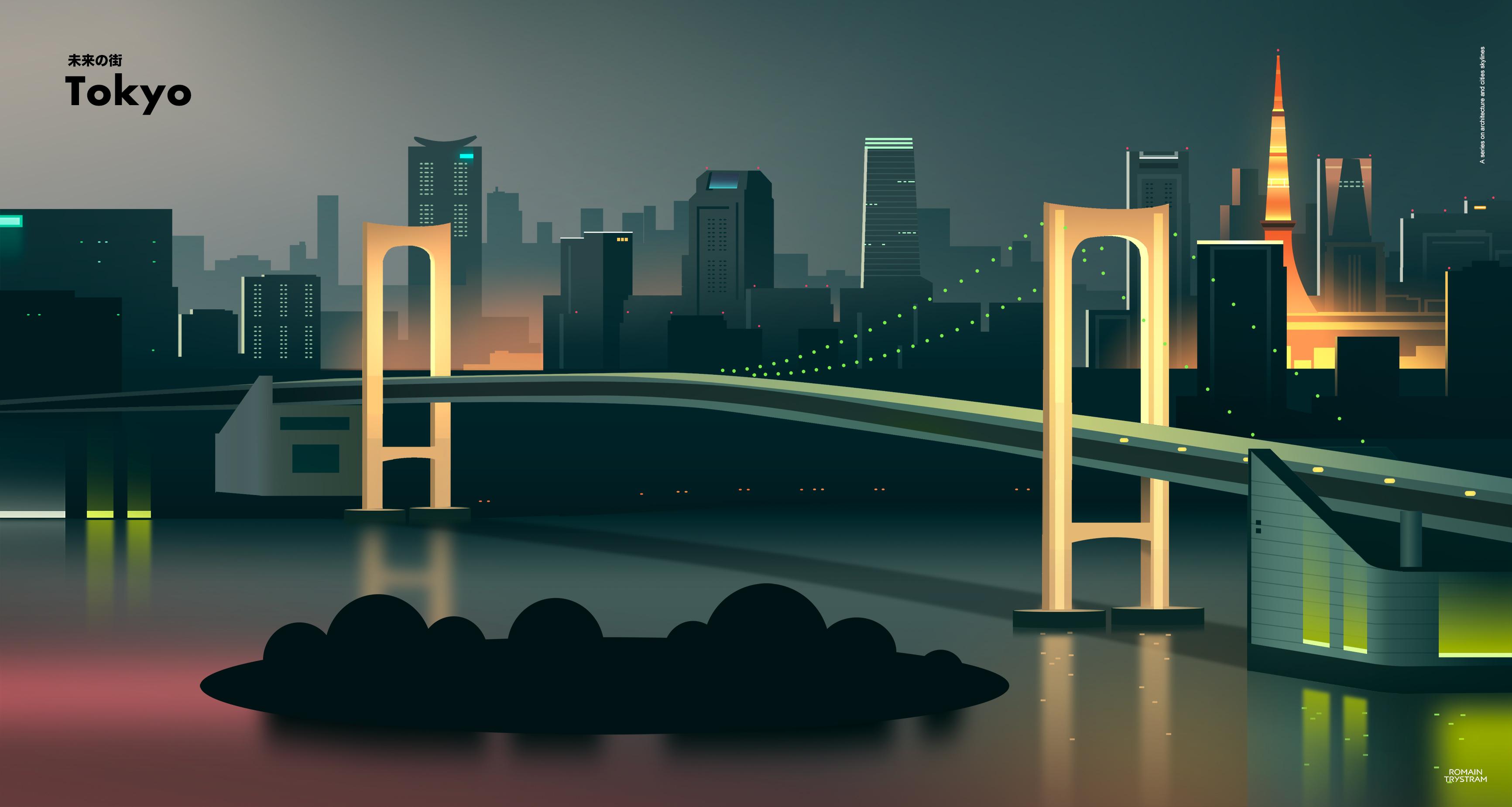 Tokyo City Minimalist 4k, HD Artist, 4k Wallpapers, Images ...