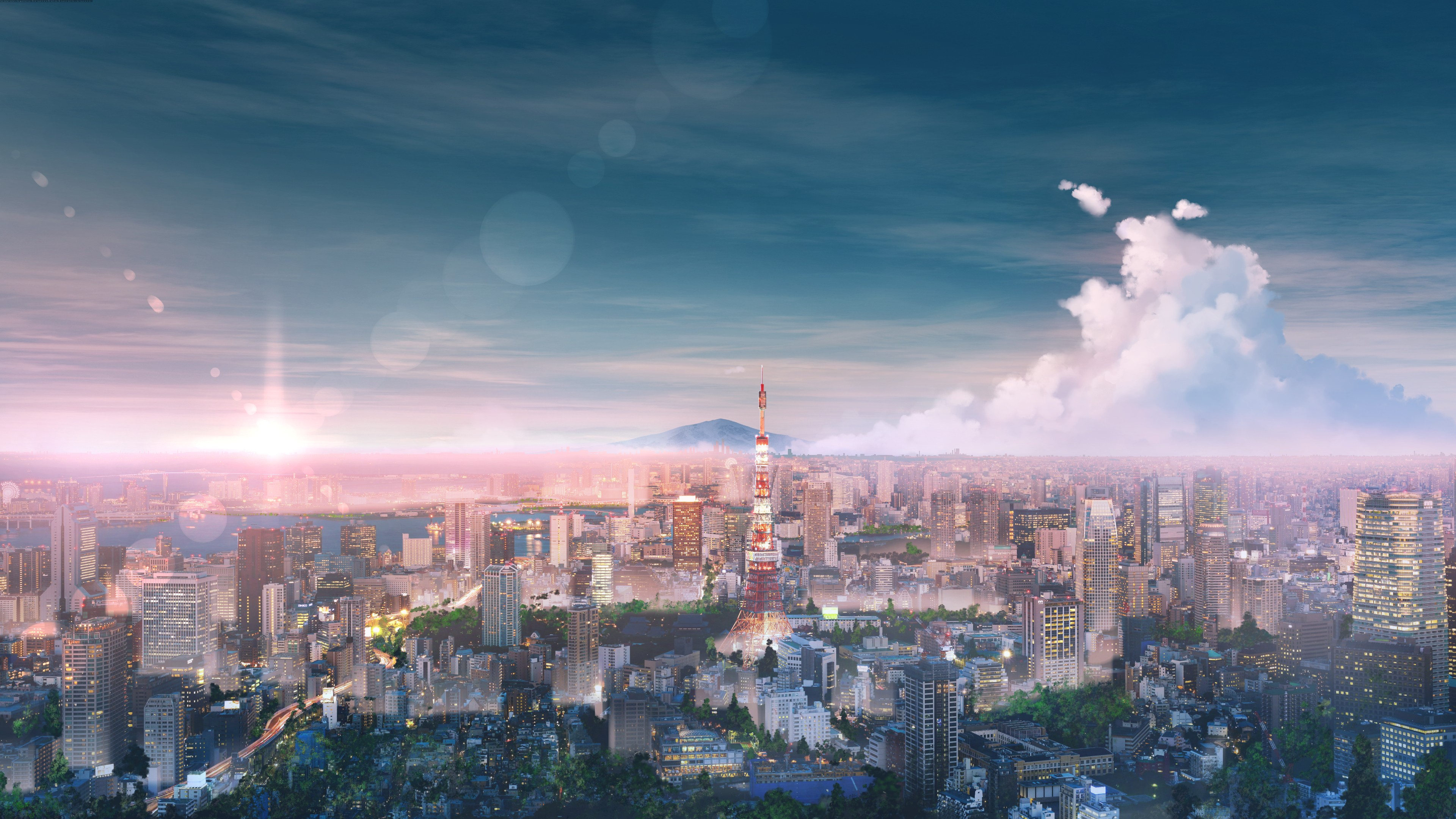 Tokyo Cityscape Anime 4k Hd Anime 4k Wallpapers Images Backgrounds Photos And Pictures