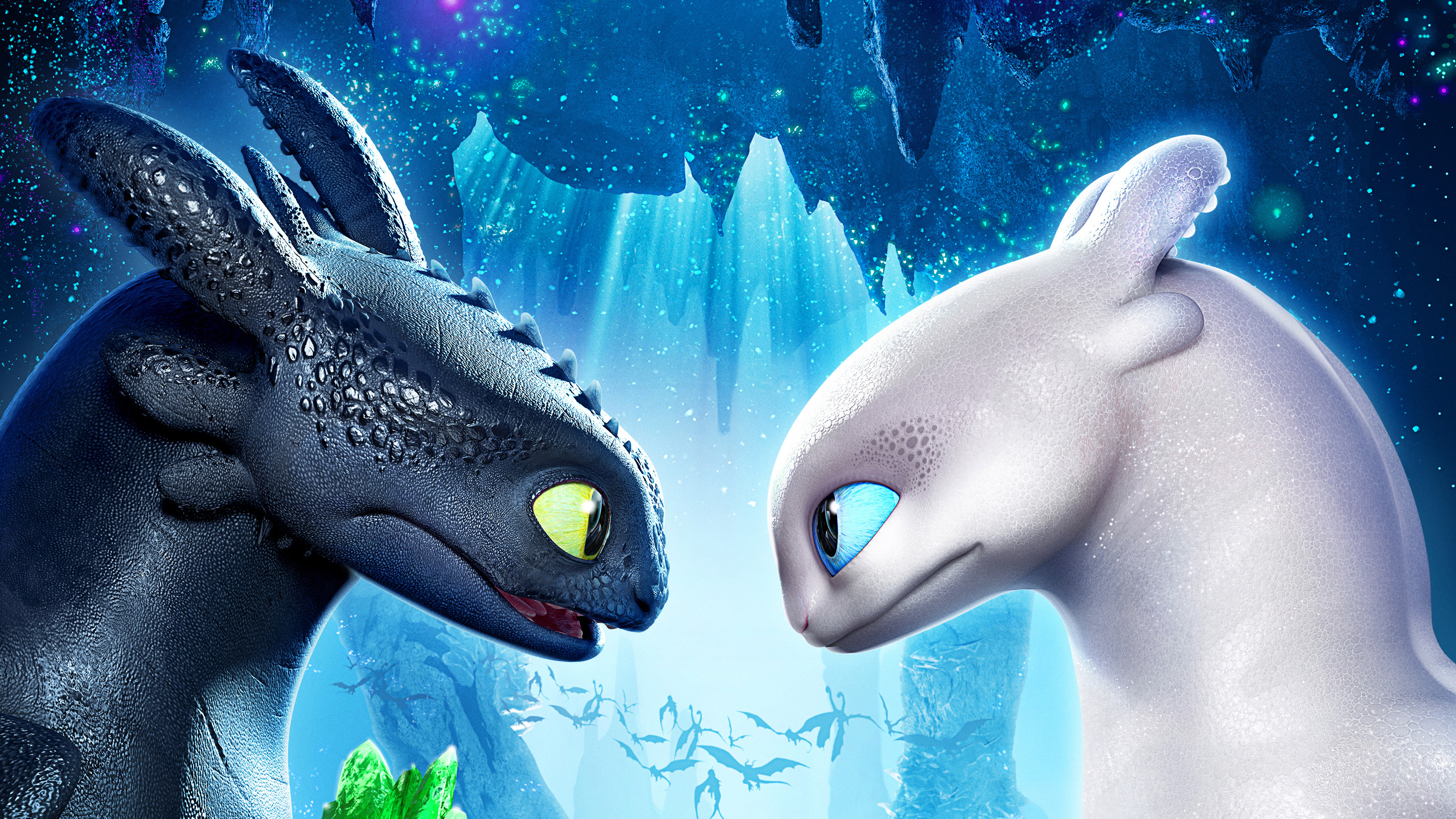 Toothless With His Girlfirend Night Fury 4k Hd Movies 4k Wallpapers Images Backgrounds Photos And Pictures