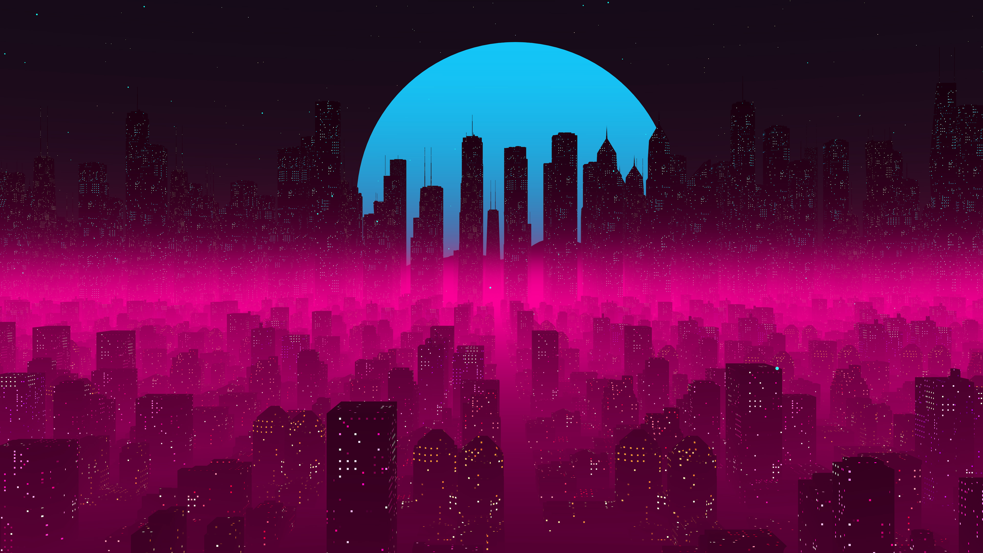 Vapor Synthwave Retro City 4k, HD ...