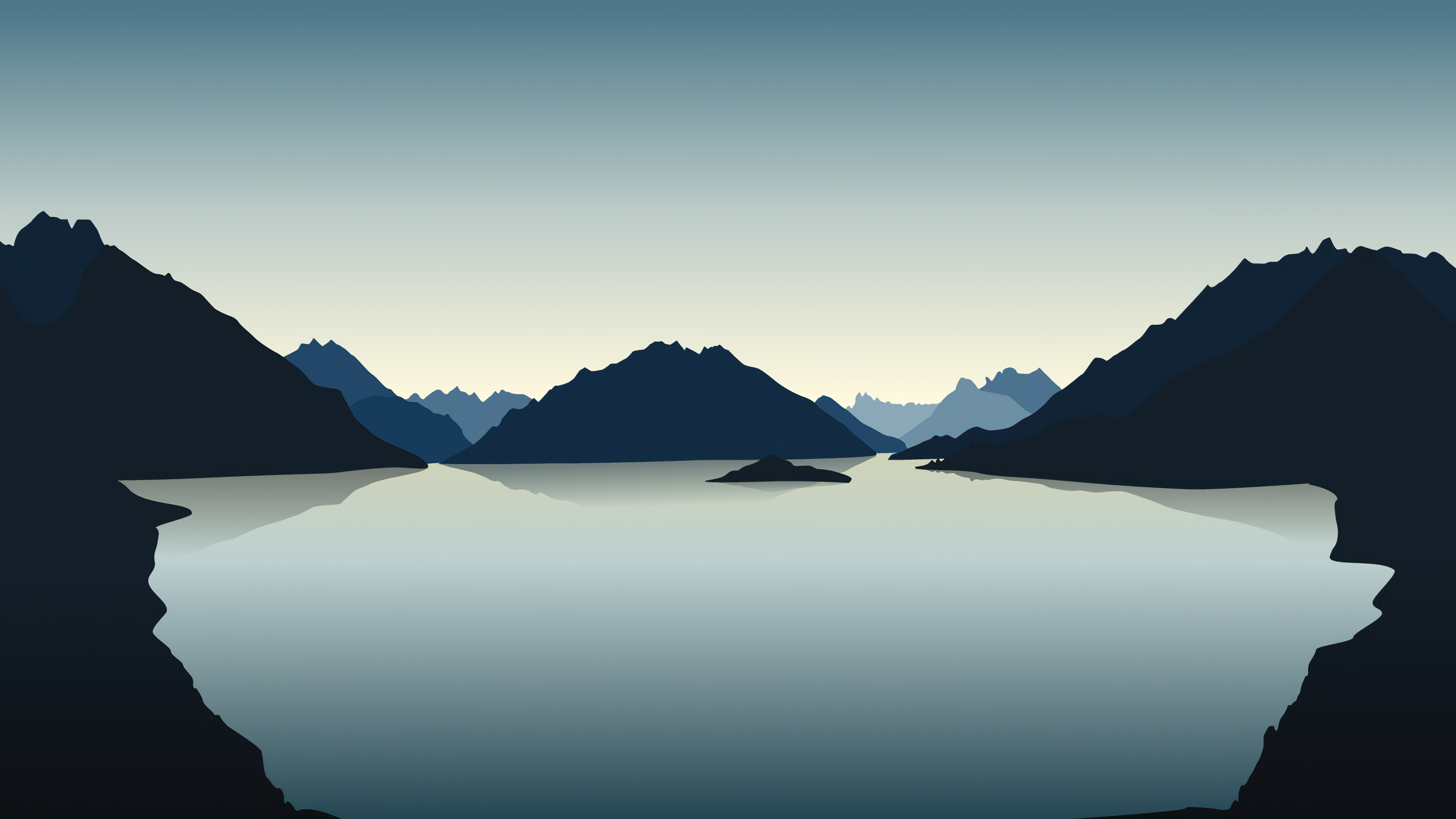 Vector Landscape Reflection Mountains 4k Hd Artist 4k Wallpapers Images Backgrounds Photos And Pictures
