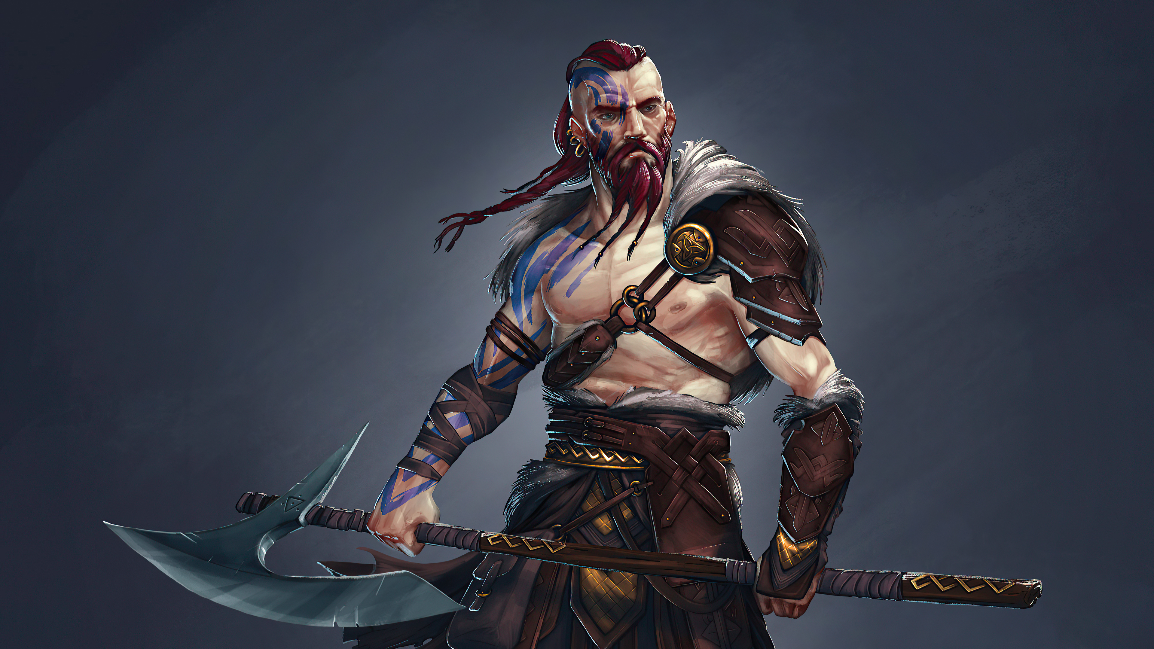 Viking Warrior 4k Hd Artist 4k Wallpapers Images Backgrounds Photos And Pictures