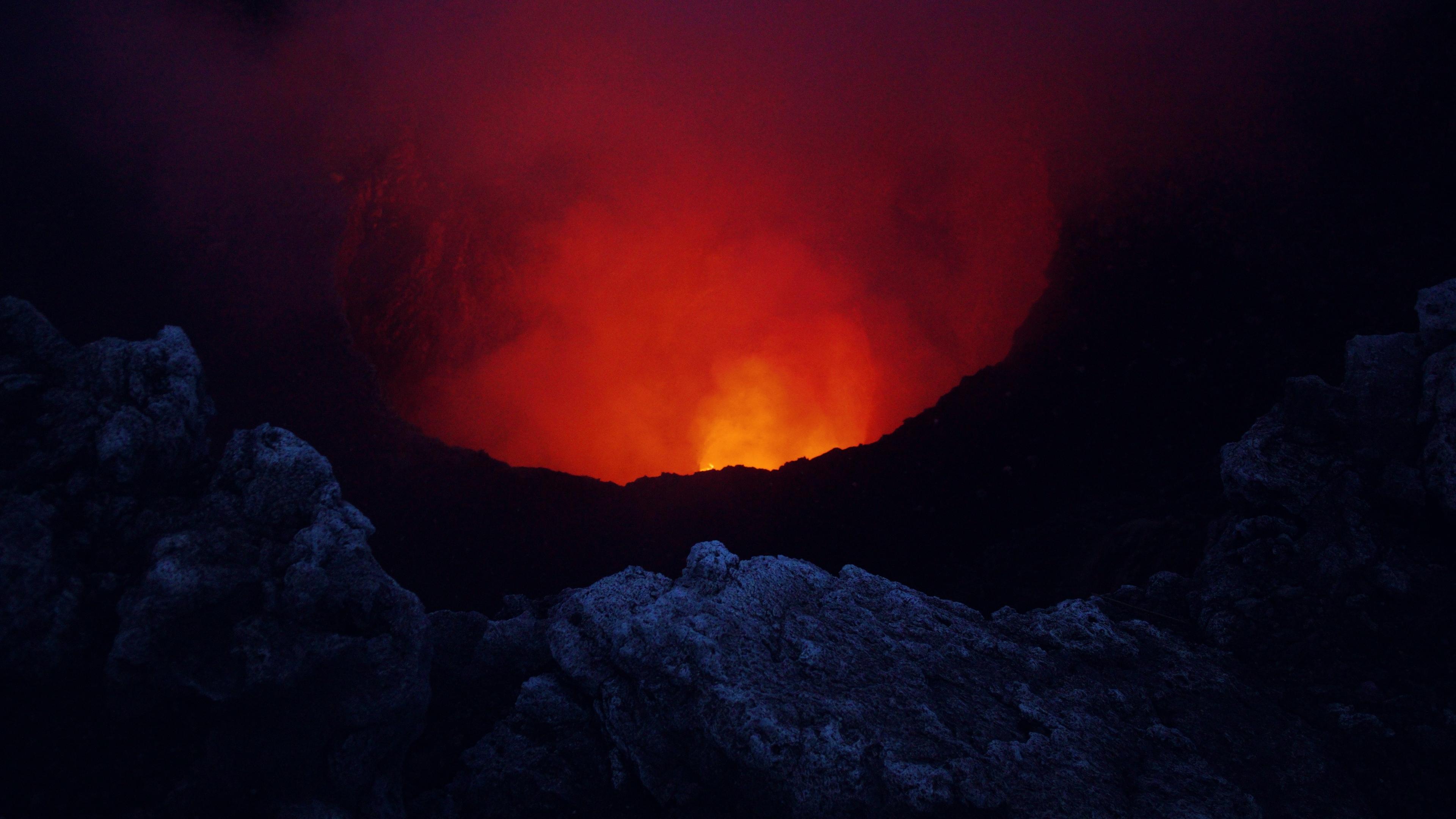 Volcano Dark Red 4k, HD Nature, 4k Wallpapers, Images ...