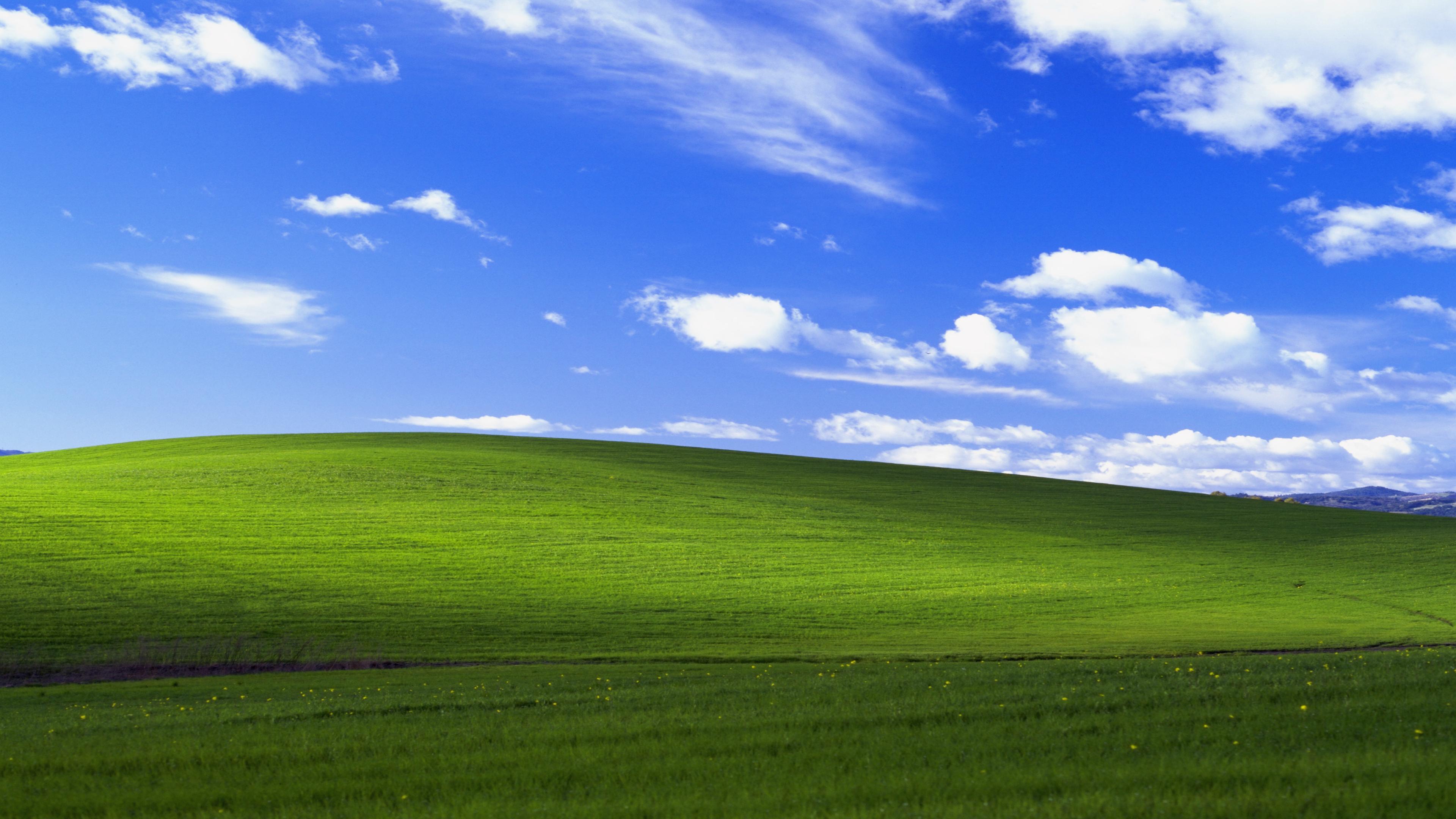 windows xp bliss 4k lu