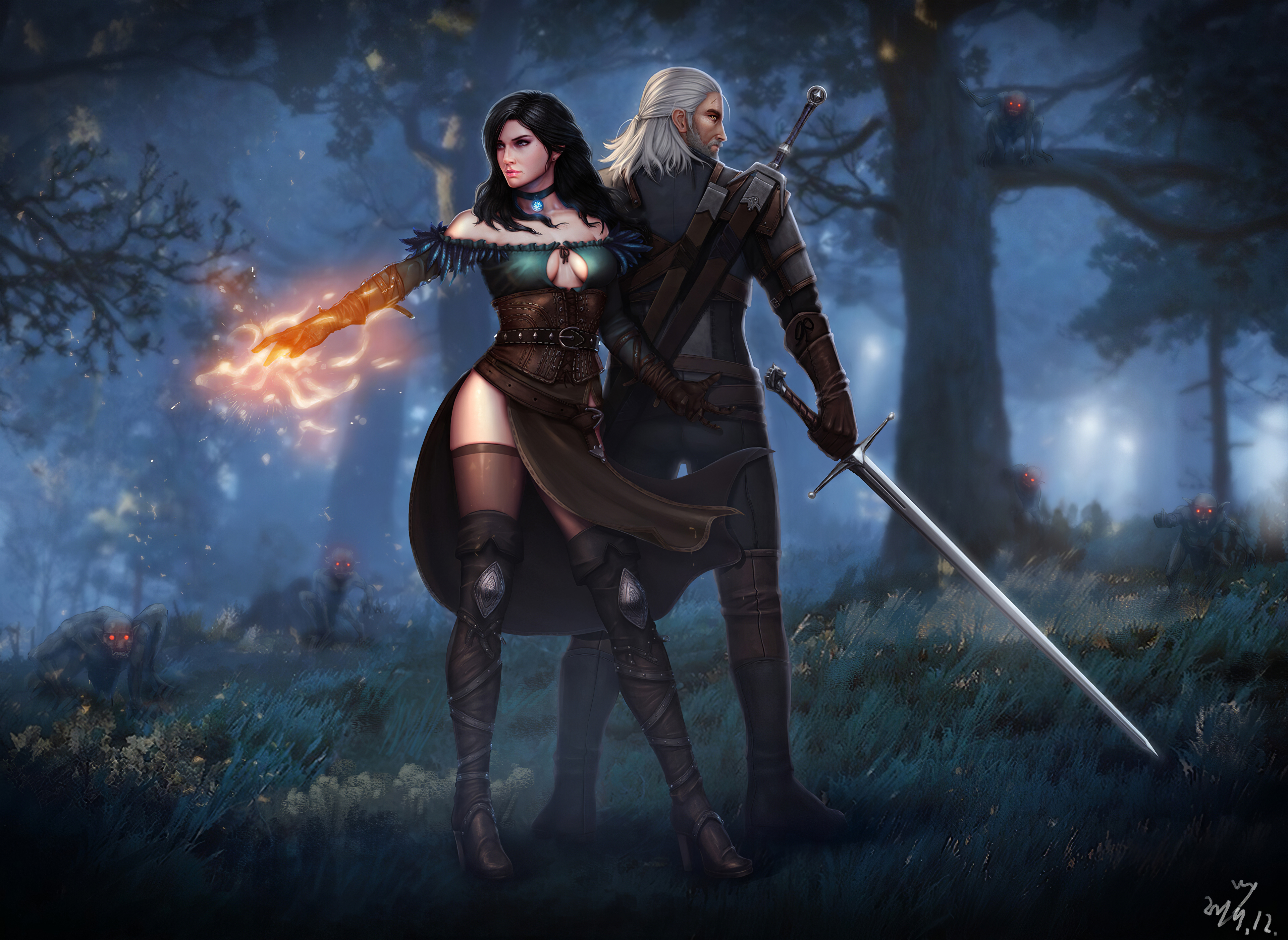 1152x864 Witcher 3 Wild Hunt Geralt Yen And Ciri 4k 1152x864 Resolution Hd 4k Wallpapers Images Backgrounds Photos And Pictures