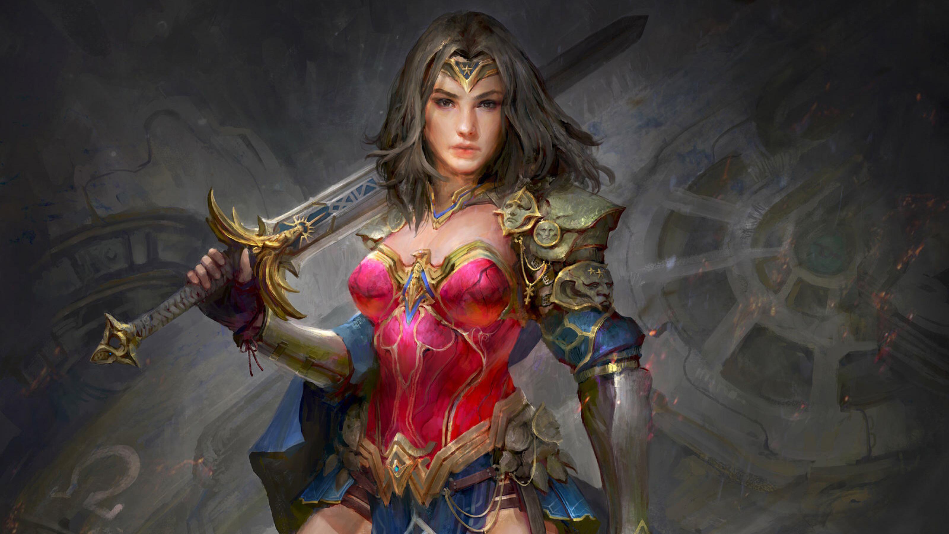 Wonder Woman 1984 Movie Artwork Hd Movies 4k Wallpapers Images
