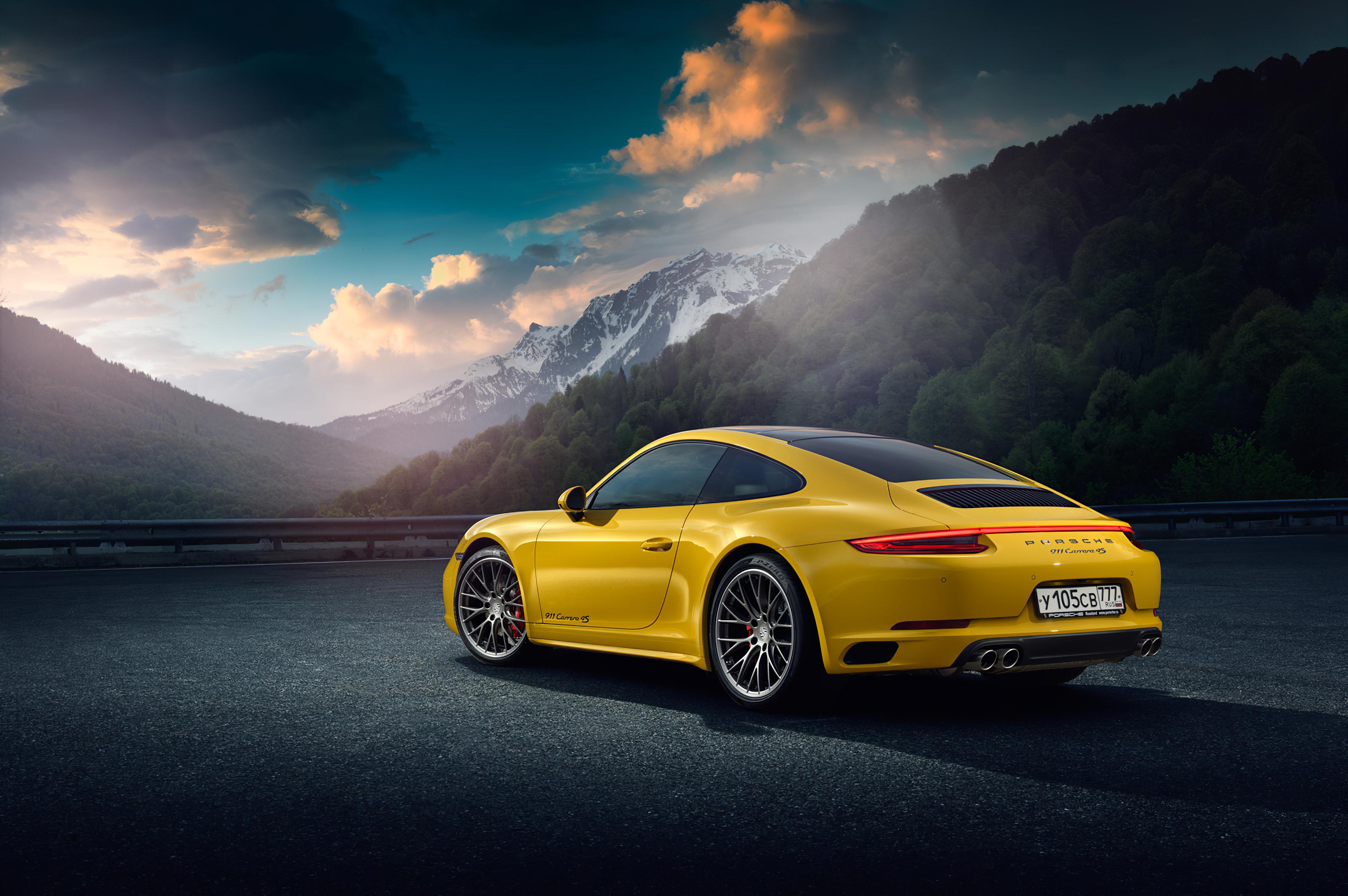 Yellow Porsche 918 Rear, HD Cars, 4k Wallpapers, Images ...
