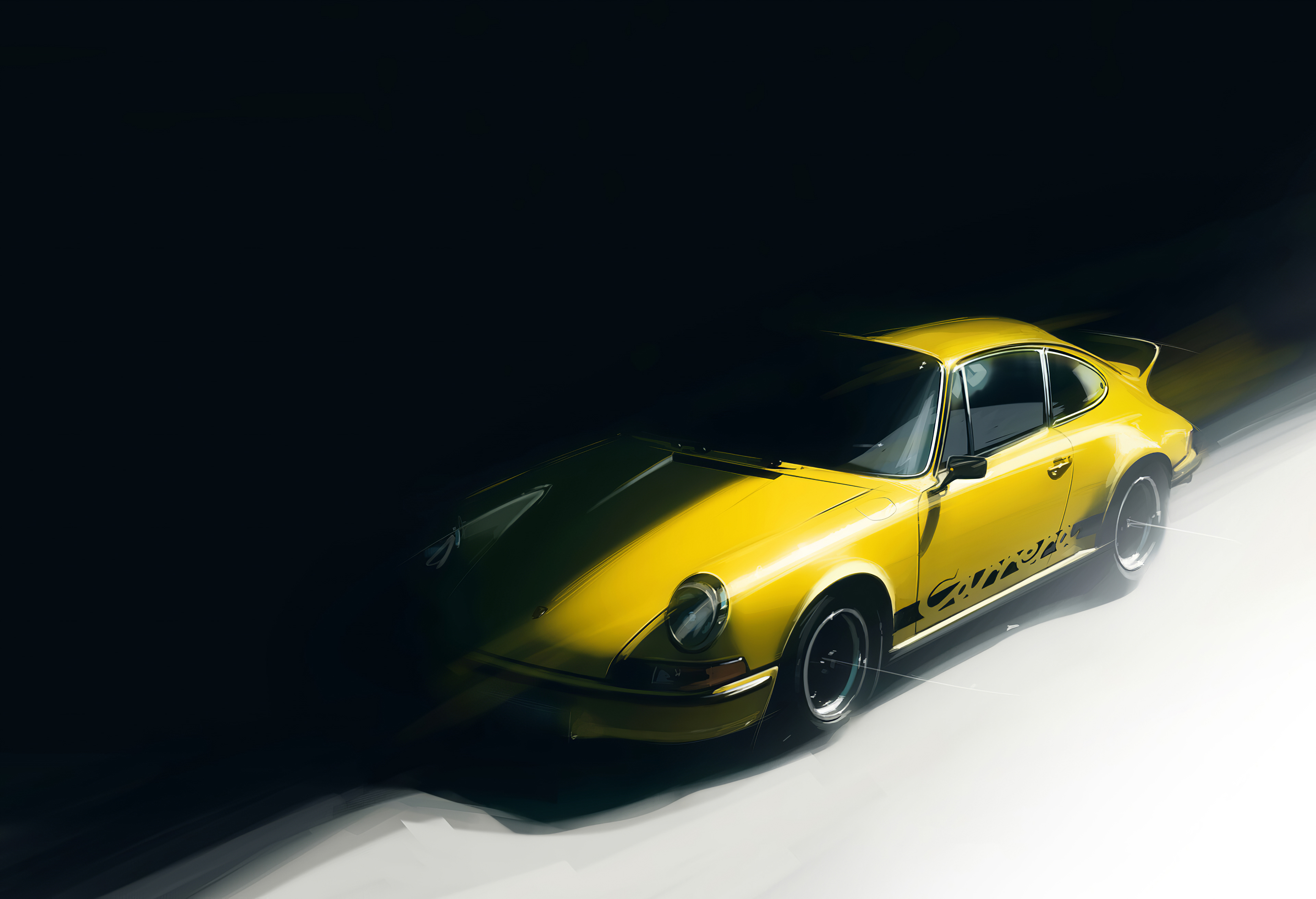Yellow Porsche Artwork Hd Cars 4k Wallpapers Images Backgrounds Photos And Pictures