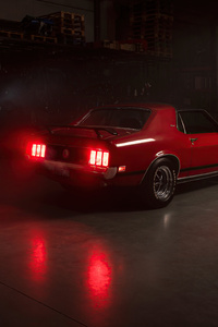 240x320 1970 Ford Mustang Coupe Classic Car Rear 5k