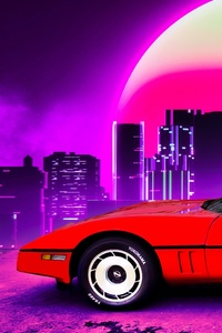 1984 Corvette Retro Outrun 4k