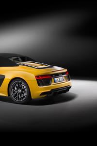 1080x2160 2017 Audi R8 V10 Spyder 4k
