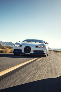2017 Bugatti Chiron White Blue