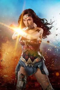 320x480 2017 Wonder Woman 4k