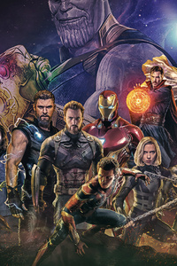 1125x2436 2018 Avengers Infinity War Artwork