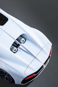 2018 Bugatti Chiron Sky Upper View 4k