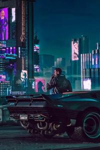320x480 2018 Cyberpunk 2077 4k