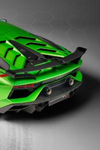 2018 Lamborghini Aventador SVJ Rear Upper View