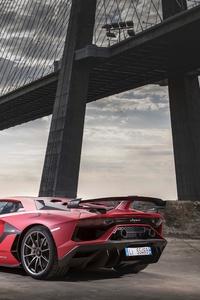 2018 Lamborghini Aventardor SVJ Rear 5k