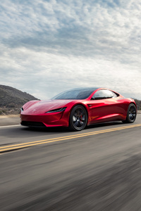 2018 Tesla Roadster Side View 4k
