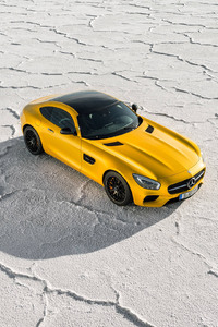 480x800 2018 Yellow Mercedes Benz Amg GT