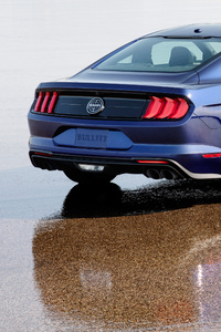 2019 Ford Mustang Bullitt Kona Blue Rear
